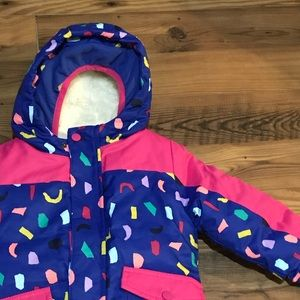 Cat & Jack Sz 2T Ski Jacket NWT with Mittens
